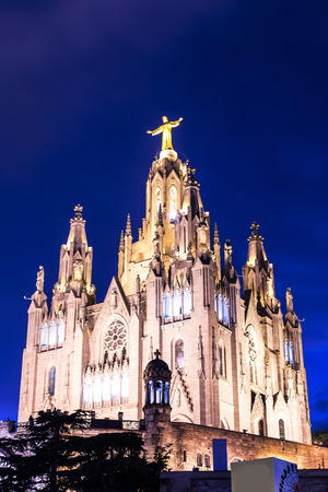 sacred heart: Church of the Sacred heart of Jesus in Barcelona in Spain