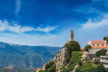 그리스에서 여름 하루에 아라 초바 스톡 콘텐츠
