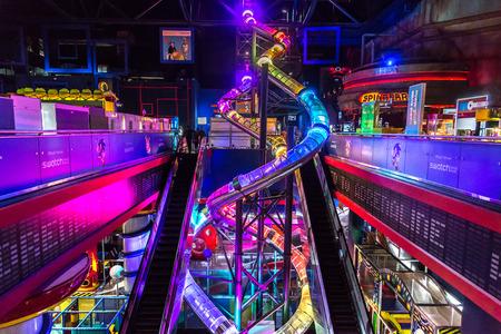 DUBAI, UAE - DECEMBER 5: Sega Republic, indoor theme park at The Dubai Mall, UAE. December 5, 2015 in Dubai, United Arab Emirates Redakční