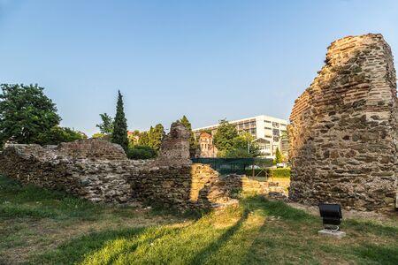 thessaloniki: Ruins in Thessaloniki, Greece in a summer day