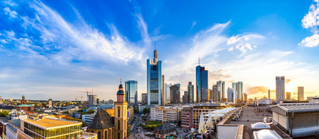 Aerial view of Frankfurt with Hauptwachen, Germany in a summer day Stock Photo - 52591277