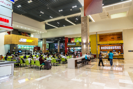 '5 december': DUBAI, UAE - DECEMBER 5: Food court in Dubai Mall, UAE. December 5, 2015 in Dubai, United Arab Emirates Editorial