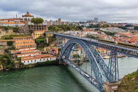 luis: Dom Luis I bridge in Porto in Portugal in a summer day