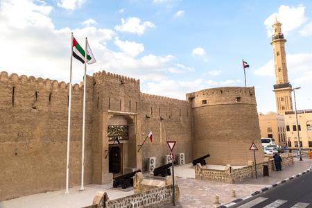 Al Fahidi Fort - antica fortezza araba a Dubai Museum, Emirati Arabi Uniti Archivio Fotografico - 53015991
