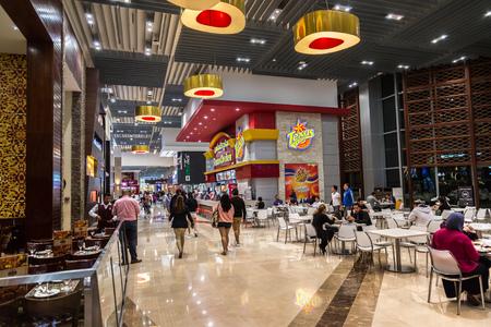 food court: DUBAI, UAE - DECEMBER 5: Food court in Dubai Mall, UAE. December 5, 2015 in Dubai, United Arab Emirates Editorial