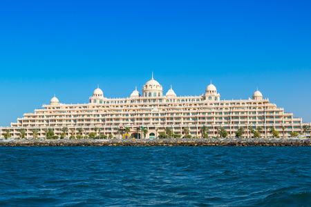 residences: DUBAI, UAE - NOVEMBER 13: Kempinski Hotel & Residences Palm Jumeirah in a summer day in Dubai on 13 November 2015