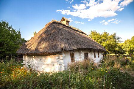 pirogovo: Traditional ukrainian village in the museum of national architecture in Pirogovo in a summer day, Kiev, Ukraine