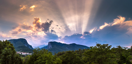 olympus: Mount Olympus in Greece in a summer evening Stock Photo