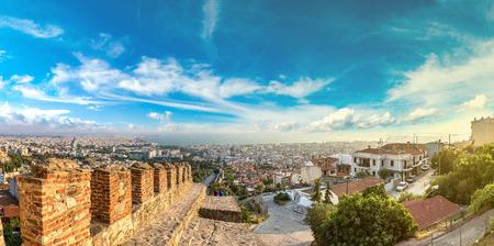 thessaloniki: Trigonion tower in Thessaloniki, Greece in a summer day Editorial