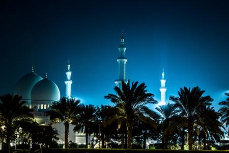 sheikh zayed mosque: Sheikh Zayed Mosque at night. Abu Dhabi, United Arab Emirates