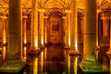 constantinople ancient: ISTANBUL, TURKEY - MAY 14, 2015 : The Basilica Cistern is the largest ancient cisterns.