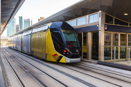 rta: New modern tram in Dubai, United Arab Emirates Editorial