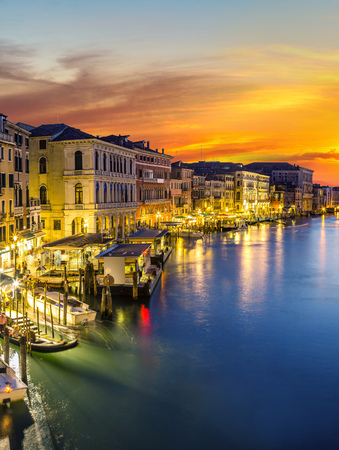 chanel: Canal Grande in a summer night in Venice, Italy