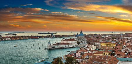 View of Basilica di Santa Maria della Salute  under sunset,Venice, Italy Фото со стока