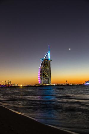 DUBAI, UAE - NOVEMBER 24:  Seven stars luxury hotel Burj Al Arab, November 24, 2015 in Dubai, United Arab Emirates Editorial