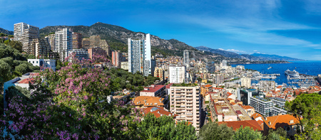 Panoramic view of Monte Carlo in a summer day, Monaco