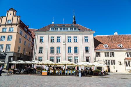 TALLINN, ESTONIA - JUNE 23, 2016: Tallinn Old Town in a beautiful summer day, Estonia on June 23, 2016