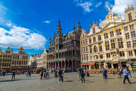 16: BRUSSELS, BELGIUM - JUNE 16, 2016: The Grand Place in Brussels in a beautiful summer day, Belgium on June 16, 2016 Editorial