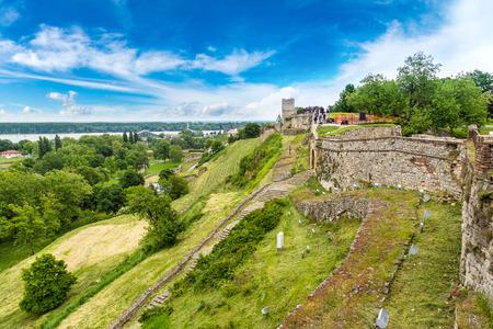 Belgrade fortress Kalemegdan in Serbia in a beautiful summer day