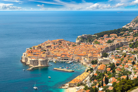 Aerial view of old city Dubrovnik in a beautiful summer day, Croatia Reklamní fotografie - 68022852
