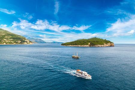 Lokrum island in Dubrovnik in a beautiful summer day, Croatia Stock Photo
