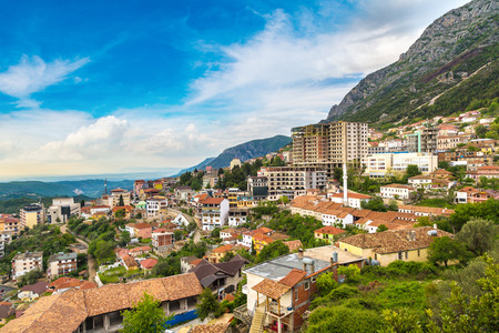 View from Kruja in a beautiful summer day, Albania Stockfoto