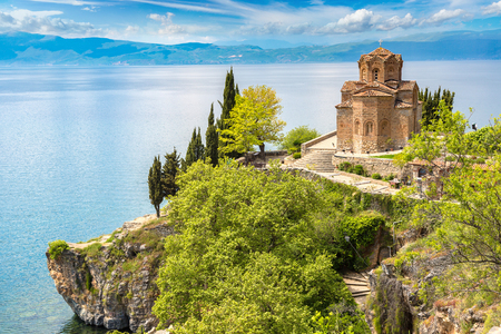 Jovan Kaneo church in Ohrid in a beautiful summer day, Republic of Macedonia