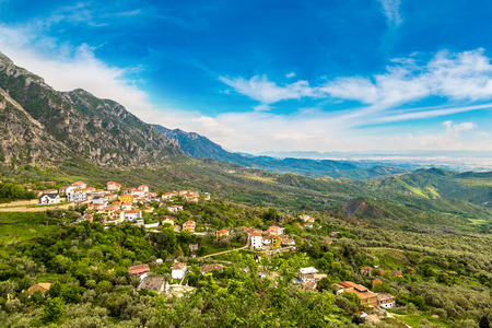 View from Kruja in a beautiful summer day, Albania Stock Photo