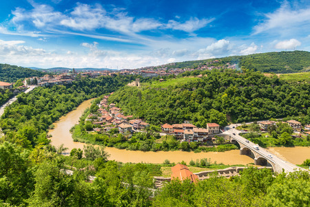 Veliko Tarnovo in a beautiful summer day, Bulgaria