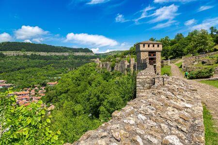 Tsarevets Fortress in Veliko Tarnovo in a beautiful summer day, Bulgaria