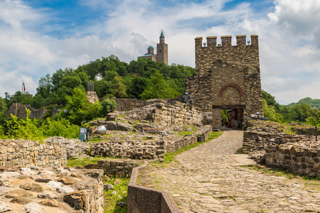 veliko: Tsarevets Fortress in Veliko Tarnovo in a beautiful summer day, Bulgaria