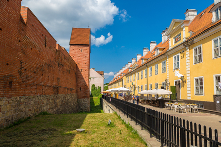 Wall of medievalin Riga in a beautiful summer day, Latvia Stock Photo