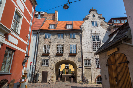 Swedish gate in the old city of Riga in a beautiful summer day, Latvia