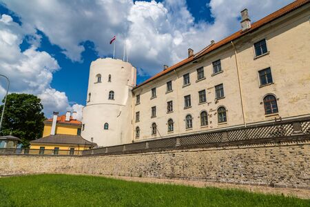 Riga Castle - residence of the President of Latvia in a beautiful summer day