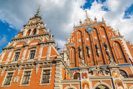 House of the Blackheads in Riga in a beautiful summer day, Latvia Stock Photo