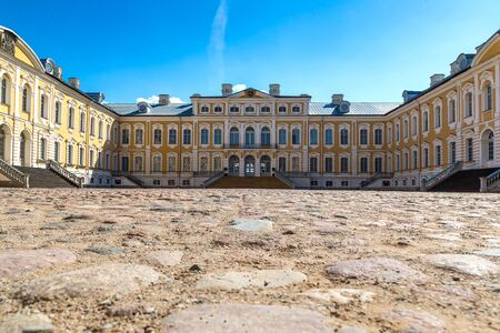 rundale: Rundale Palace in a beautiful summer day, Latvia Editorial