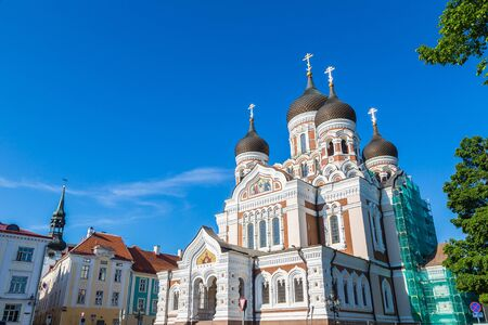 Alexander Nevsky Cathedral in Tallinn in a beautiful summer day, Estonia
