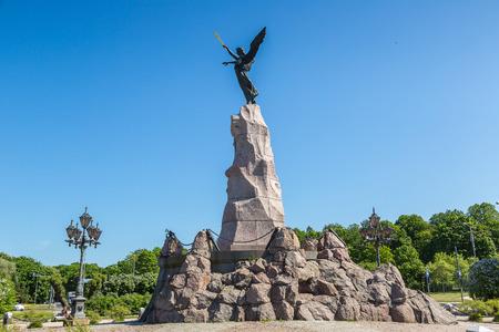Russalka Memorial sculpted by Amandus Adamson in 1902 in Tallinn in a beautiful summer day, Estonia