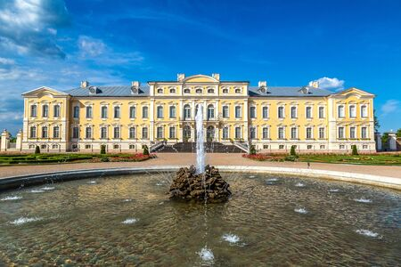Rundale Palace in a beautiful summer day, Latvia Editorial