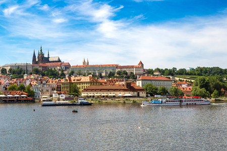 Panoramic view of  Prague in a beautiful summer day, Czech Republic Stock Photo