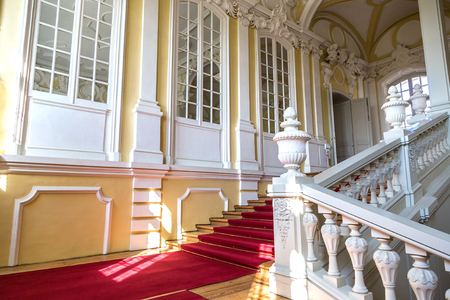 rundale: PILSRUNDALE, LATVIA - JUNE 22, 2016: Interior of Rundale palace in a beautiful summer day in Pilsrundale, Latvia on June 22, 2016 Editorial