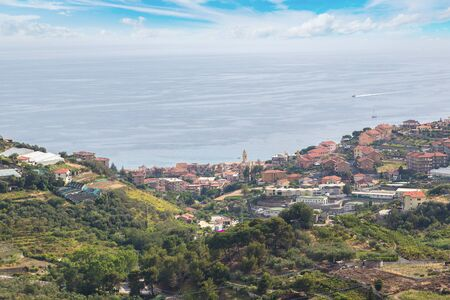 palinuro: Azure coast in a beautiful summer day, Italy