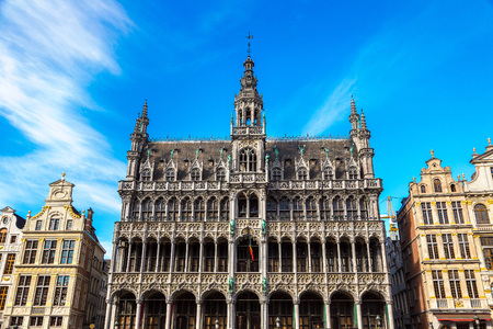 The Grand Place in Brussels in a beautiful summer day, Belgium
