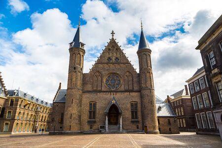 Binnenhof palace, dutch parliament in Hague in a   beautiful summer day, The Netherlands Editorial