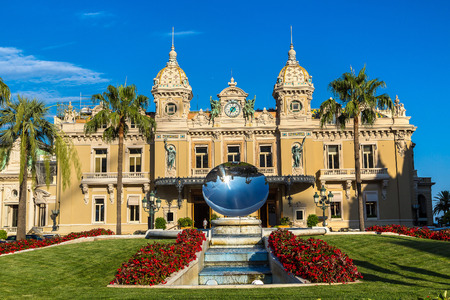 The grand casino in Monte Carlo in a beautiful summer day, Monaco
