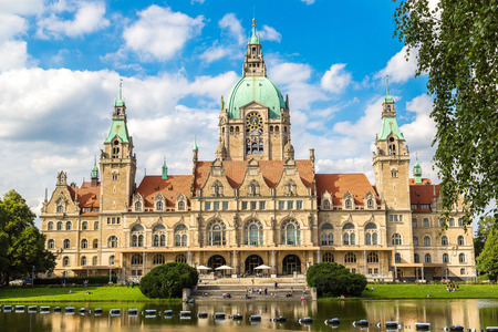 New City Hall in Hannover in a beautiful summer day, Germany