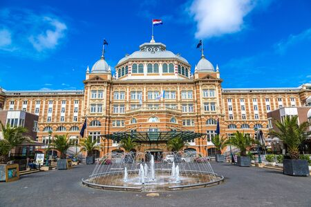 the hague: HAGUE, THE NETHERLANDS - JUNE 16, 2016: Famous Grand Hotel Amrath Kurhaus in Hague in a   beautiful summer day, The Netherlands on June 16, 2016 Editorial