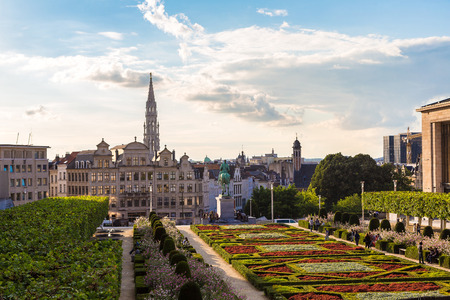 Cityscape of Brussels in a beautiful summer day, Belgium Stock Photo