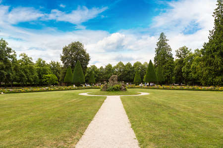 residenz: Residenze Palace garden  in Wurzburg in a beautiful summer day, Germany