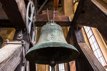 Old Church bell in a beautiful summer day